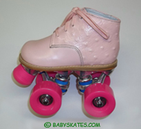 Our Pink baby ROLLER skate - for your toddler or child to to the ROLLER rink.