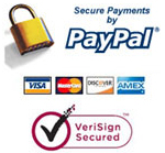 All transactions are safe, private and secure by Paypal with Verisign