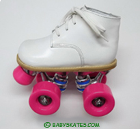 Our white baby ROLLER skate - for your toddler or child to to the ROLLER rink.