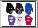 TODDLER CHARACTER STRETCH GLOVES $4.99