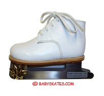Our white baby skate - for your toddler or child to to the ice skating rink.